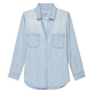 RAILS Carter Chambray Blue Pocket Button Up Shirt